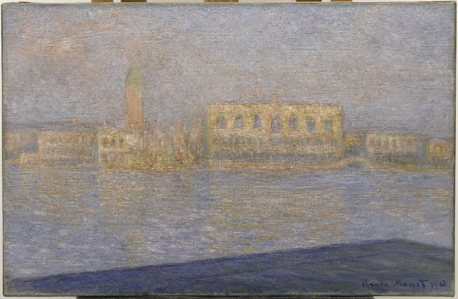 Claude Monet, The Palazzo Ducale, Seen from San Giorgio Maggiore, 1908 Solomon R. Guggenheim Museum, New York Thannhauser Collection, Bequest, Hilde Thannhauser 91.3910 © Solomon R. Guggenheim Foundation