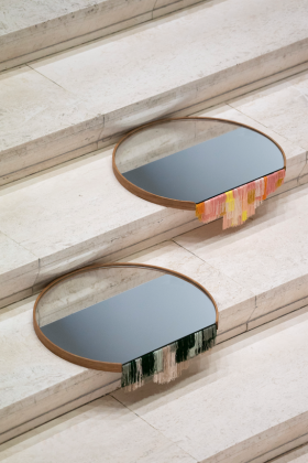 Fringe mirrors by Tero Kuitunen, Helsinki Collection from Nordic Now curated by Adorno