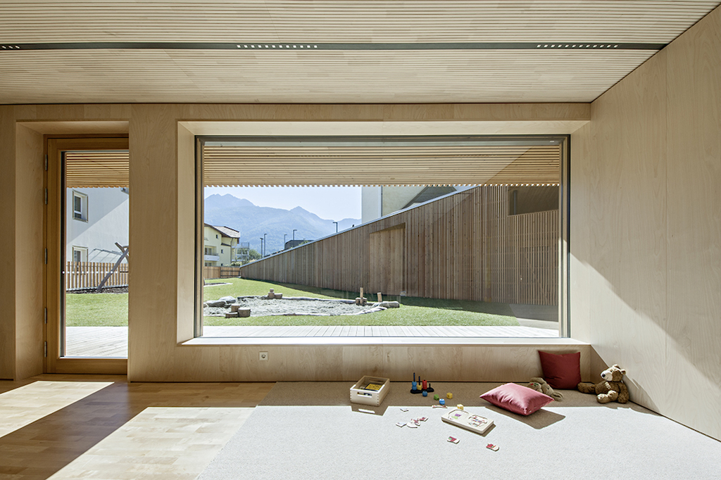 Medaglia d'Oro all'Architettura Italiana 2018 a Feld72 per Kindergarten-Niederolang (c) Hertha Hurnaus