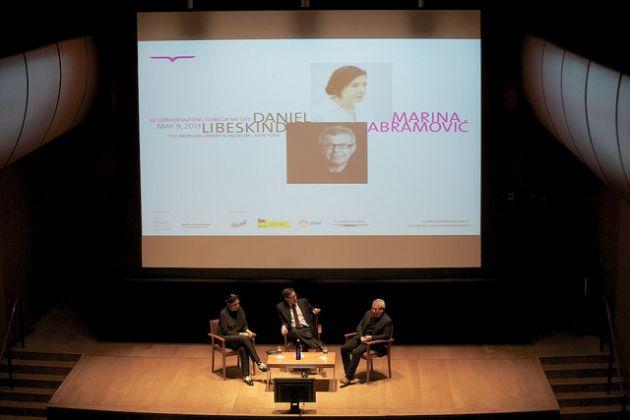 Conversazioni tenutasi alla Morgan Library a NYC con Marina Abramovic e Daniel Libeskind