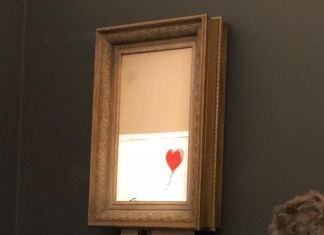 Girl with Balloon di Banksy distrutta durante l'asta di Sotheby's