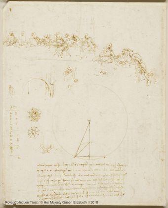Leonardo da Vinci (1452 – 1519) Studi per l'Ultima Cena e schizzi di geometria e d'architettura, ca. 1490-1494