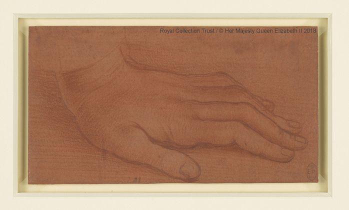 Leonardo da Vinci (1452 – 1519), attribuito a. La mano sinistra di san Bartolomeo, ca. 1495