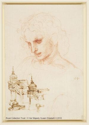 Leonardo da Vinci (1452 – 1519) Studio per san Giacomo Maggiore e schizzi di architettura, ca. 1495