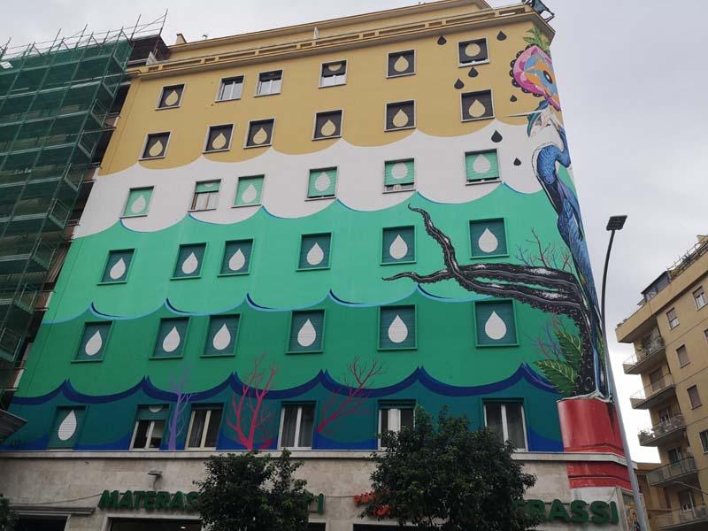 A Roma Il Piu Grande Murale Ecologico Artribune