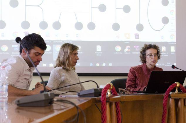 Alessandro Castiglioni, Angela Vettese e Carmen Lorenzetti alla conferenza inaugurale. Photo Francesca Granata