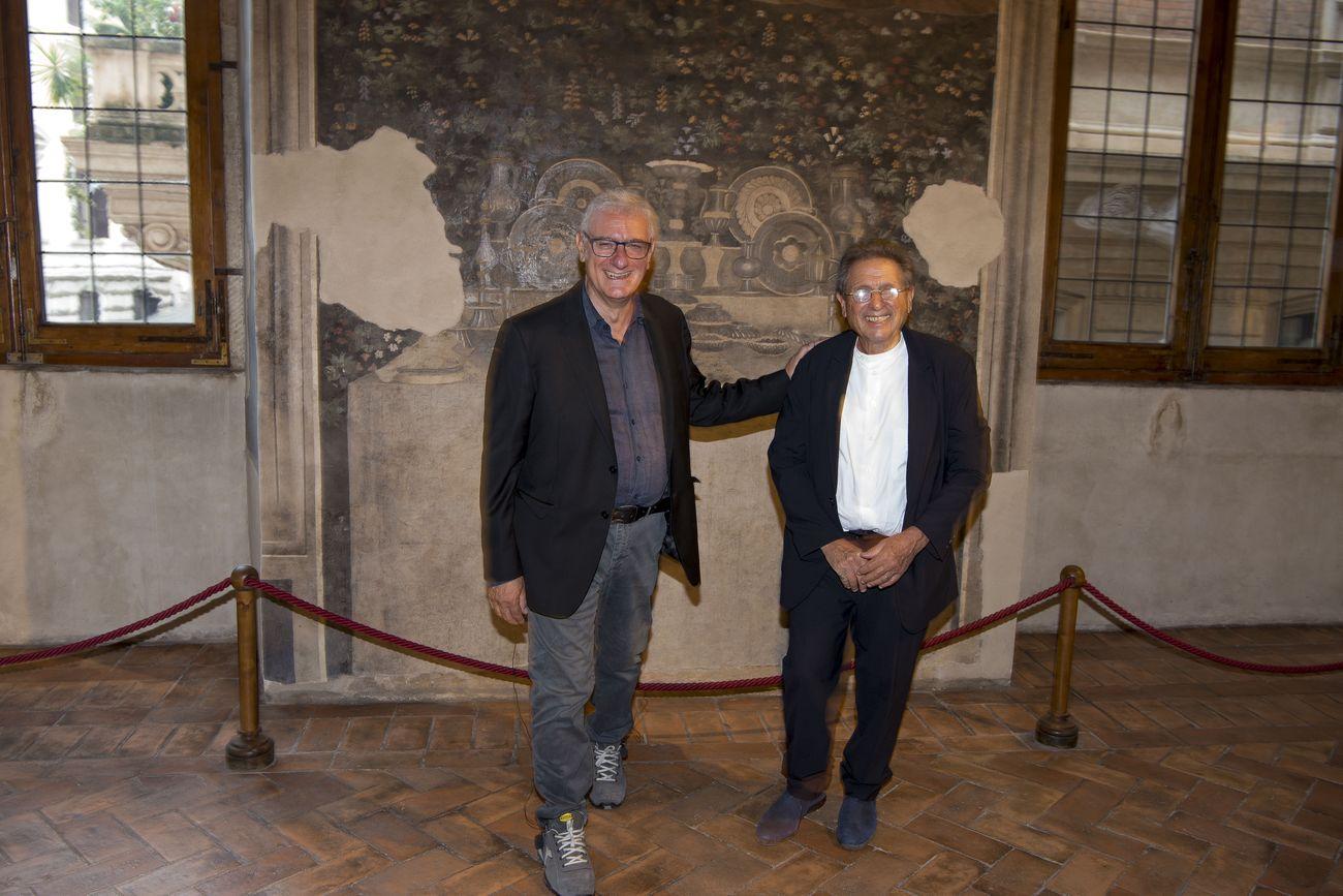 Alfredo Pirri e Alvin Curran. Photo Giorgio Benni