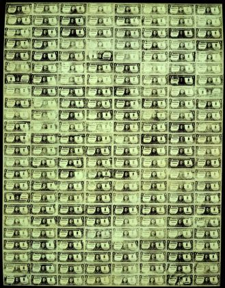 Andy Warhol 192 One Dollar Bills 1962 Courtesy The Brant Foundation