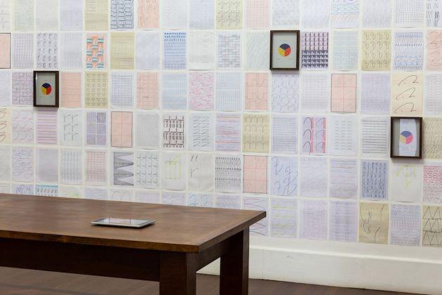 Antonio Della Guardia. La luce dell'inchiostro ottenebra. Exhibition view at Galleria Tiziana Di Caro, Napoli 2018. Photo Danilo Donzelli