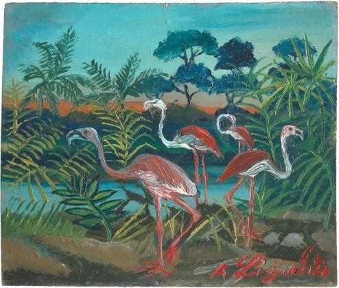 Antonio Ligabue, Fenicotteri, 1953-54. Collezione privata
