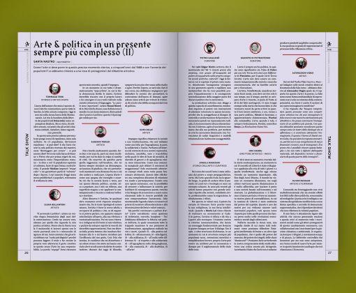 Artribune Magazine #46. Il talk show