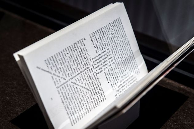 Baroque Book Design. Installation view at Museum Plantin Moretus, Anversa 2018