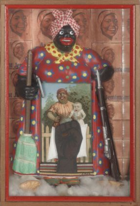Betye Saar, Liberation of Aunt Jemima, 1972. Collection of BAMPFA. Courtesy of the artist and Roberts Tilton, Los Angeles. Photo Benjamin Blackwell