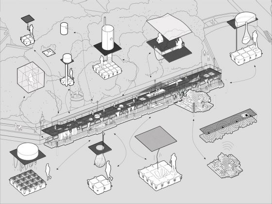 Biennale di Venezia di Architettura, 2018. Padiglione Lituania. The Swamp School Operation Scheme