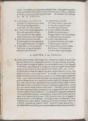 De le lettere di m. Pietro Aretino, 1538. Firenze, Biblioteca Nazionale Centrale