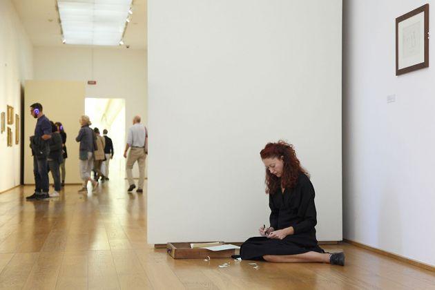 Diventa Morandi. Museo Morandi, Bologna 2018. Laura Ulisse, Lo scrivere di Morandi. Photo Francesca Cesari