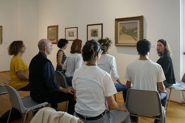 Diventa Morandi. Museo Morandi, Bologna 2018. Maria Rapagnetta, Ascoltare l'opera d'arte. Photo Luisa Siotto