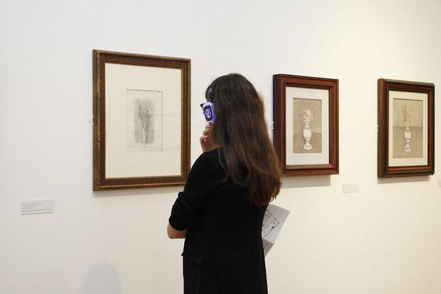 Diventa Morandi. Museo Morandi, Bologna 2018. Rita Correddu, Indagine sonora sugli oggetti morandiani. Photo Francesca Cesari