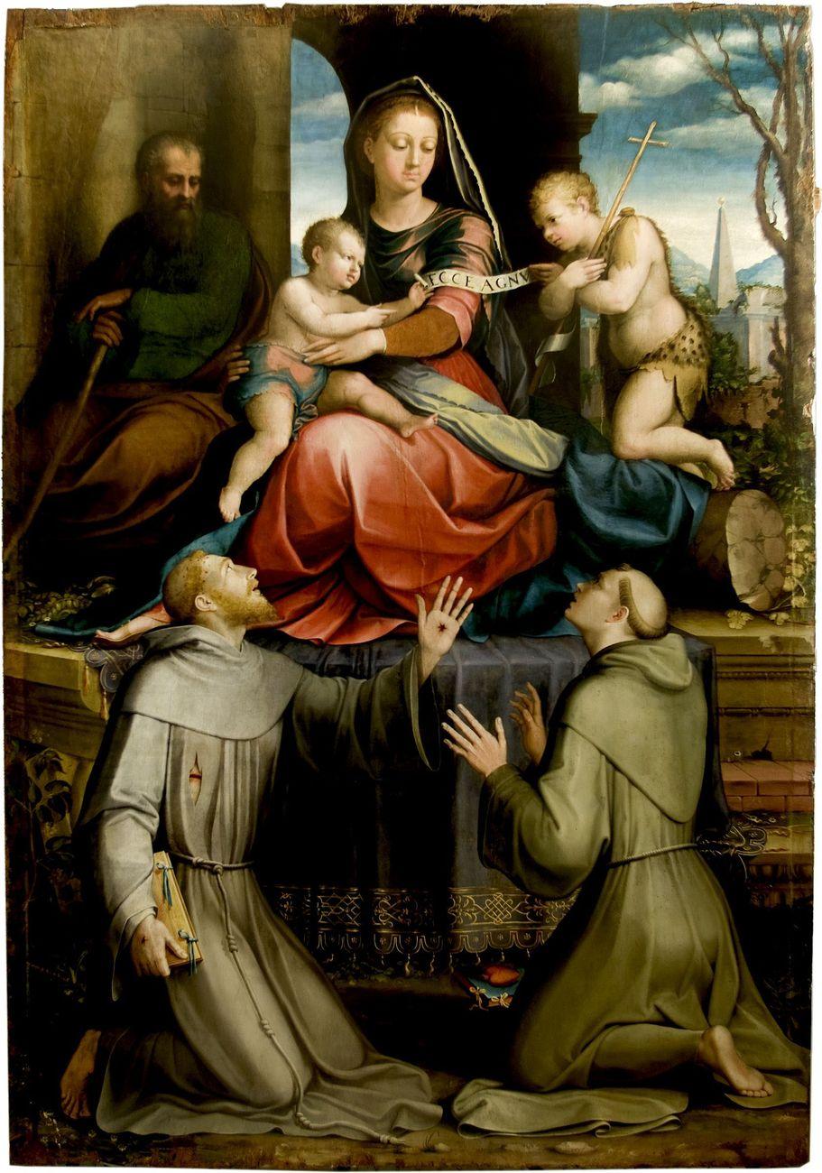 Bartolomeo Caporali, Pala dei Cacciatori, frammento, Testa d'Angelo, 1487. Castiglione del Lago, Chiesa di Santa Maria Maddalena