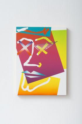 Eddie Peake, Autoritratto Diciassette, 2018. Galleria Lorcan O'Neill, Roma