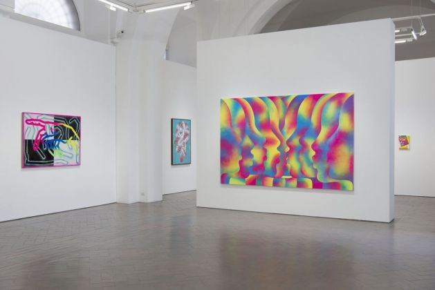 Eddie Peake. People. Exhibition view at Galleria Lorcan O'Neill, Roma 2018