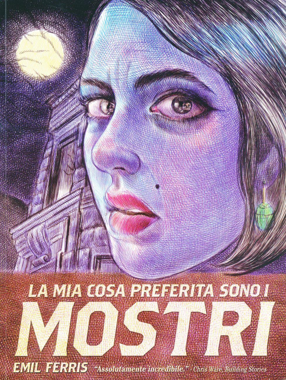 Emil Ferris – La mia cosa preferita sono i mostri (Bao Publishing, Milano 2018). Copertina