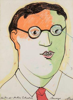 Enrico Baj, Ritratto di Arturo Schwarz, 1964