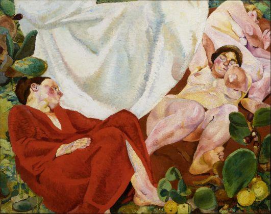 Fausto Pirandello, Composizione (Siesta rustica), 1924-26. Collezione Iannaccone