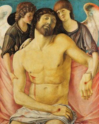 Giovanni Bellini, Cristo morto sorretto da due angeli, 1470-75 ca. Gemäldegalerie, Staatliche Museen zu Berlin © Staatliche Museen zu Berlin, Gemäldagalerie. Photo Christoph Schmidt