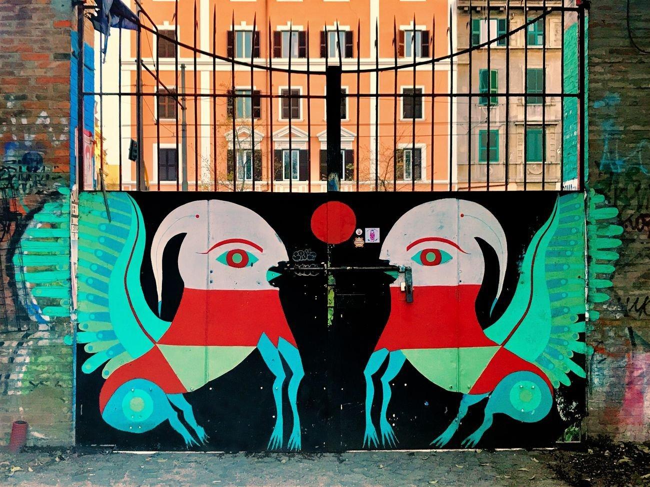 Gio Pistone, L'oracolo del sud, 2013. Roma, CSOA Snia. Photo Jessica Stewart