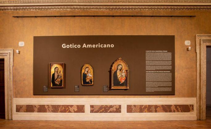 Gotico americano. I Maestri della Madonna Straus. Exhibition view at Gallerie Nazionali di Arte Antica Palazzo Barberini, Roma 2018. Photo Alberto Novelli