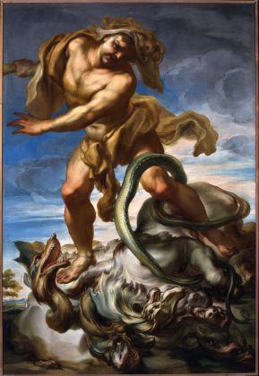 Gregorio de Ferrari, Ercole e l'Idra di Lerna, fine XVII sec. Genova, Galleria Nazionale della Liguria a Palazzo Spinola