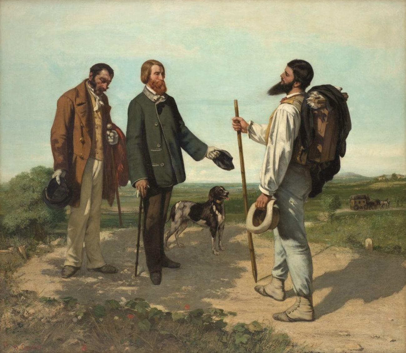 Gustave Courbet, Buongiorno signor Courbet, 1854. Montepellier Mediterranée Metropole, Musée Fabre