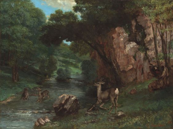 Gustave Courbet, Caprioli alla fonte, 1868. Fort Worth, Kimbell Art Museum