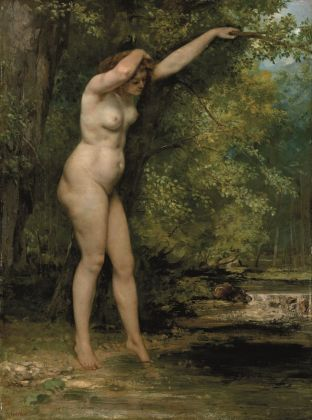 Gustave Courbet, Giovane bagnante, 1866. New York, Metropolitan Museum of Art, H.O. Havemeyer Collection