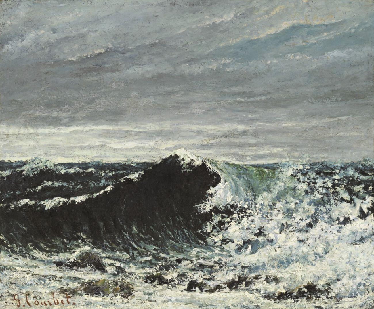 Gustave Courbet, L'onda, 1869 ca. Edimburgo, National Galleries of Scotland