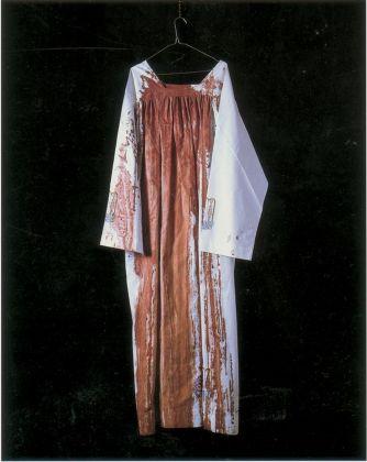 Hermann Nitsch, Omaggio a Don Giuseppe Puglisi, 1993. Photo Paolo Pugnaghi. Collezioni Cattelani