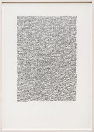 Irma Blank, Eigenschriften, 1969. Photo C. Favero