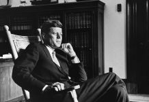 JFK Rocking Chair. Photo Cecil Stoughton, JFK Library © CORBIS