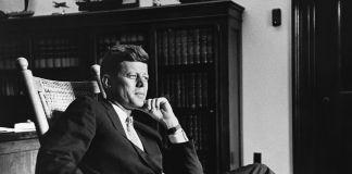JFK Rocking Chair. Photo Cecil Stoughton, JFK Library © CORBIS