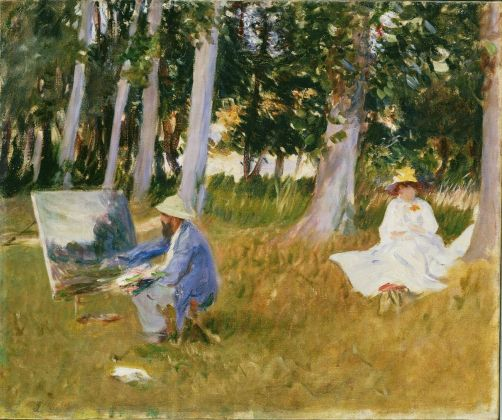 John Singer Sargent, Claude Monet Painting by the Edge of a Wood, 1885 © Tate, London 2017