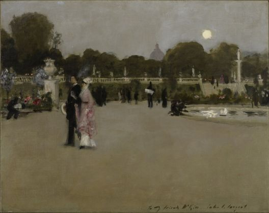 John Singer Sargent, Luxembourg Gardens at Twilight, 1879. Minneapolis Institute of Arts