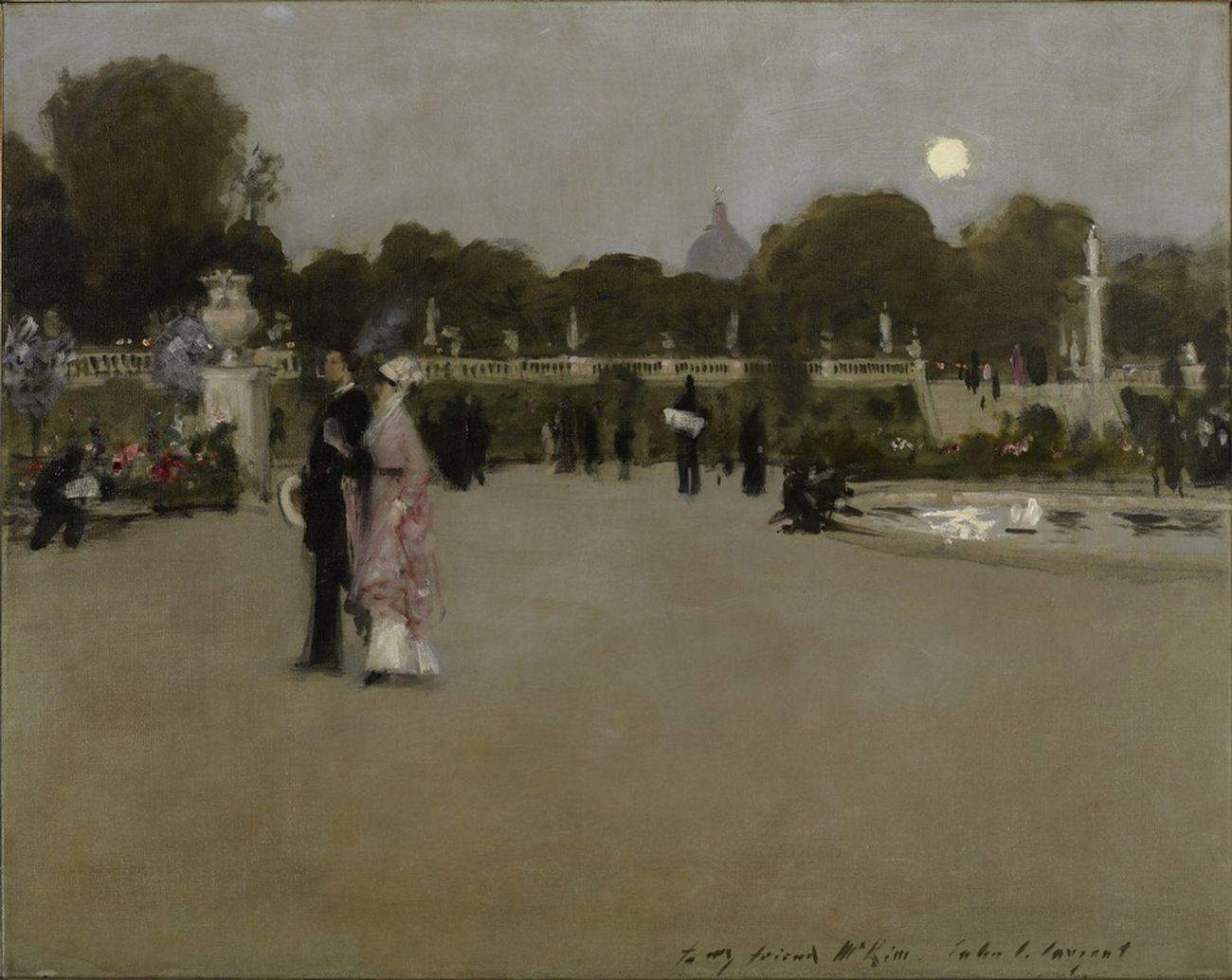 John Singer Sargent, Luxembourg Gardens at Twilight, 1879. Minneapolis Institute of Arts