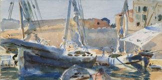 John Singer Sargent, Unloading Plaster (Maiorca), 1908. Brooklyn Museum, New York
