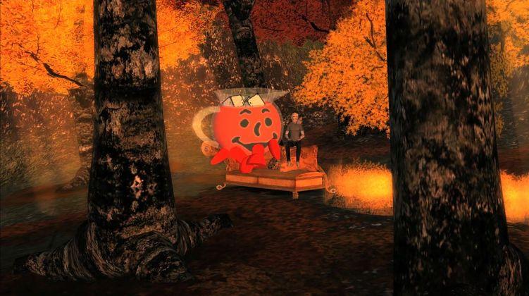 Jon Rafman, Kool Aid Man in Second Life, 2008-11. Still da video. Courtesy l'artista