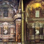 La Cappella Cornaro come è oggi e nella veduta di Guidobaldo Abbatini (1651 ca.)