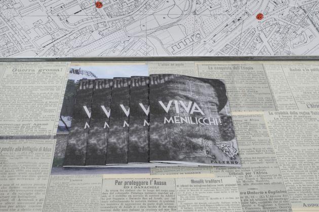 La fanzine realizzata da Fare Ala per l'installazione al Teatro Garibaldi – Foto R.Romano
