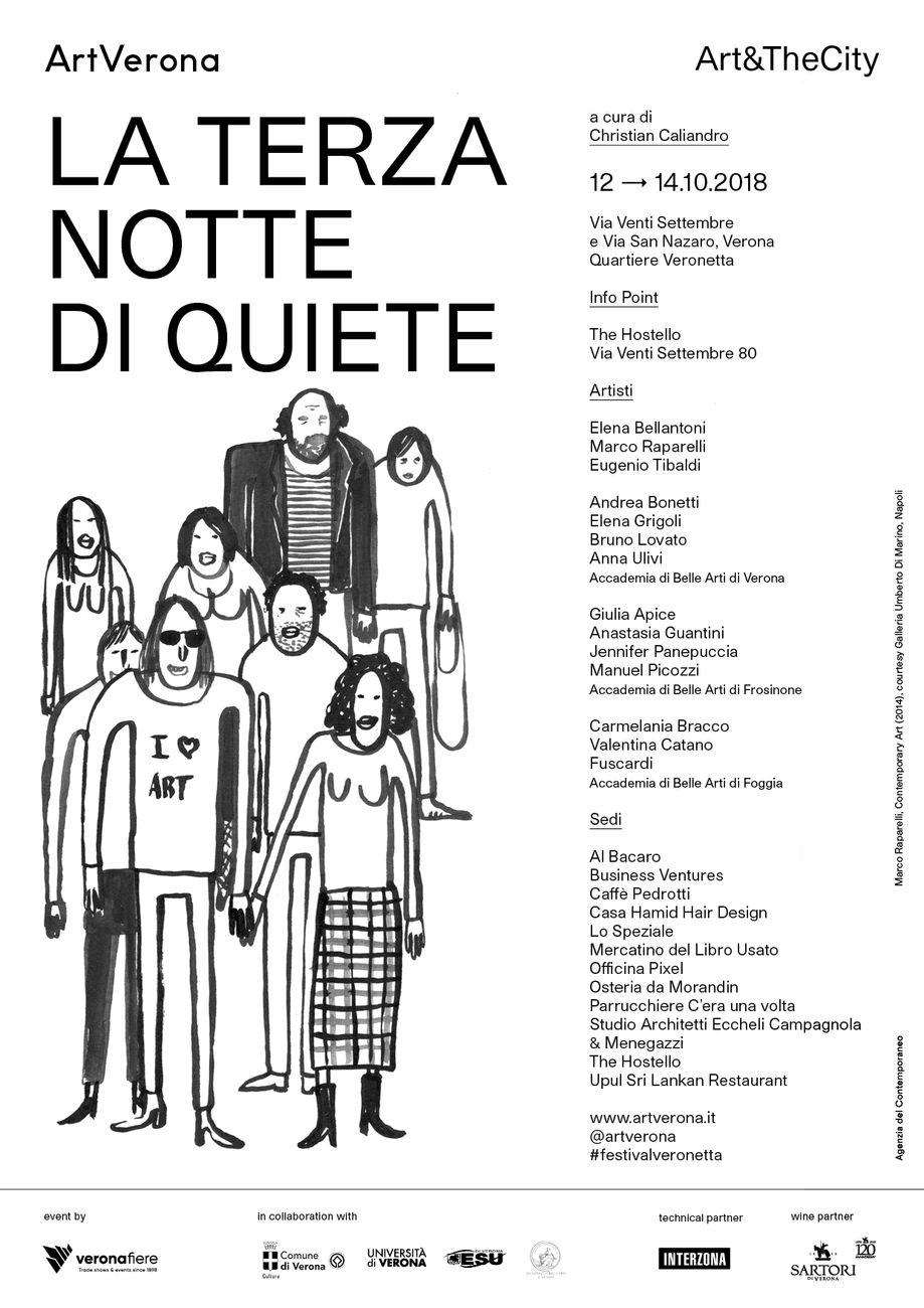 La locandina de La Terza Notte di Quiete, con un disegno di Marco Raparelli