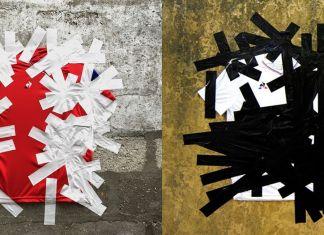Progetto per le maglie dell'A.S. Velasca disegnate da Pascale Marthine Tayou. Sponsor tecnico: Le Coq Sportif, 2018