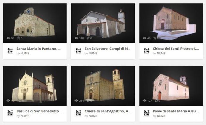 Le sette chiese ricostruite. Courtesy NUME